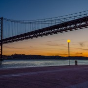 25 April Lisbon Bridge at sunset Image By Messagez.com